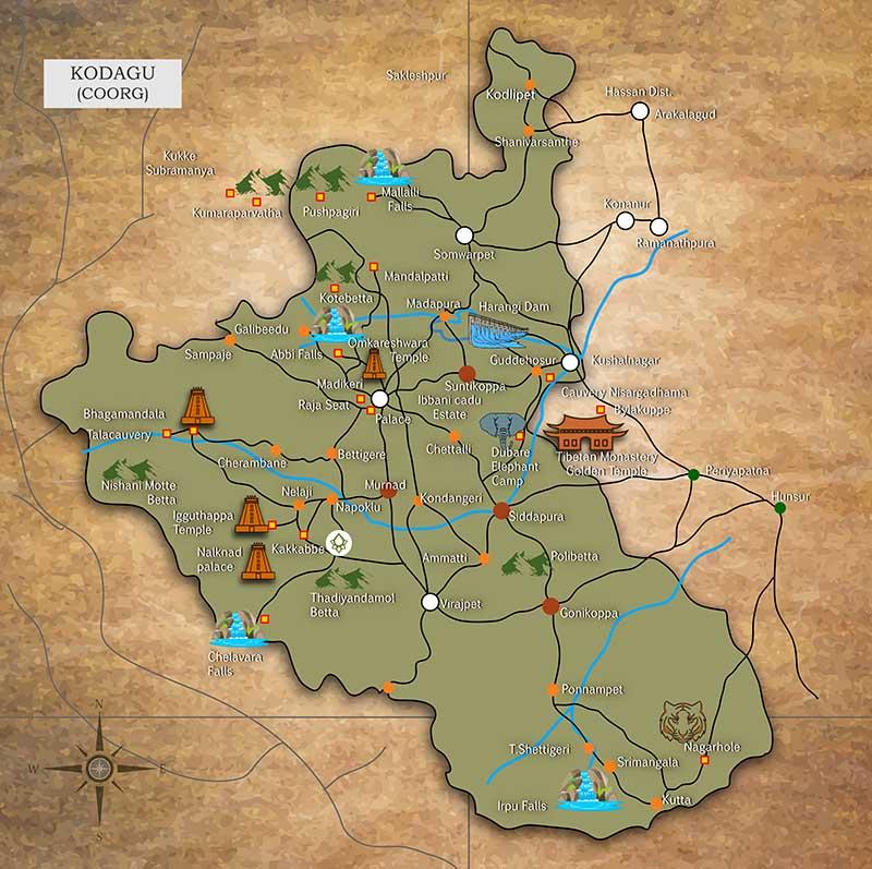 Kodagu-map
